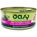 Oasy Wet Dog Pollo con fegato e verdure Lattina 150 gr Cibo per Cane