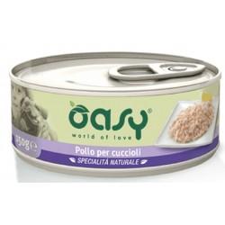 Oasy Wet Dog Pollo per Cuccioli Lattina 150 gr Cibo per Cane