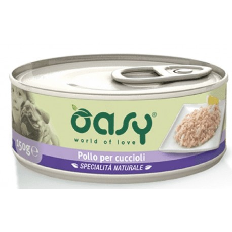 Oasy Wet Dog Pollo per Cuccioli Lattina 150 gr Cibo per Cane