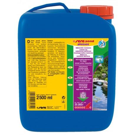 Sera Pond Phosvec 2500 ml per 25000 lt Anti Alghe per Laghetto