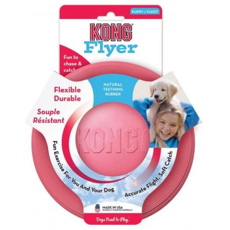 Kong Puppy Flyer KP15 Gioco Frisbee per Cane Cucciolo colore rosa
