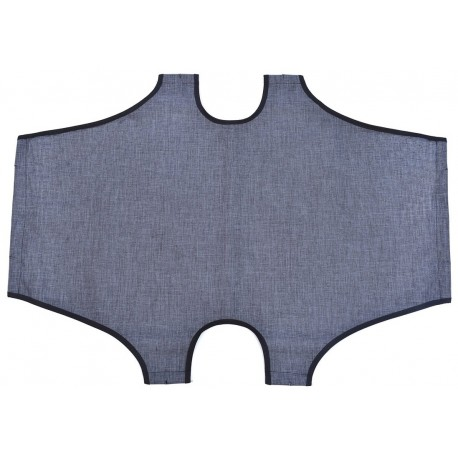 Telo di ricambio grigio per brandina pieghevole 60 x 100 cm