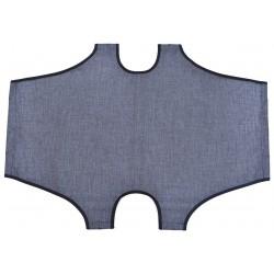 Telo di ricambio grigio per brandina pieghevole 50 x 80 cm