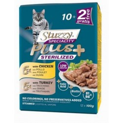 Stuzzy Speciality Plus Sterilised Pollo Tacchino Multipack 12 bustine x 100 gr