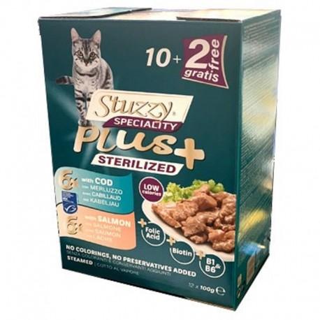 Stuzzy Speciality Plus Sterilised Merluzzo Salmone Multipack 12 bustine x 100 gr