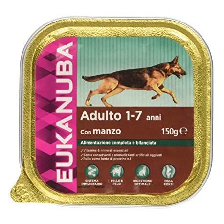 Eukanuba 150 gr Adulto con Manzo Alimento Completo per Cani