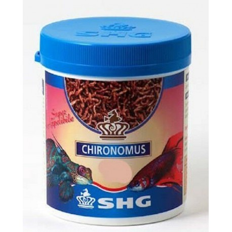 SHG Chironomus 8 gr Larve liofilizzate per Pesci Acquario