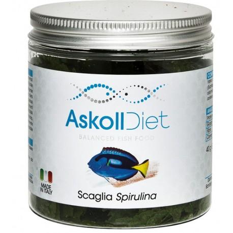 Askoll Diet Scaglia Spirulina 40 gr Alimento per Pesci Tropicali e Marini