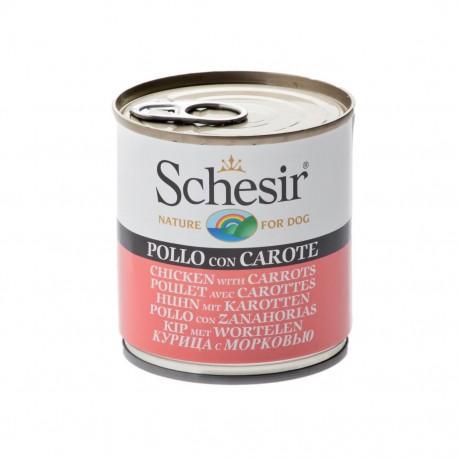 Schesir Dog 285 gr Pollo e Carote Alimento Umido per Cane