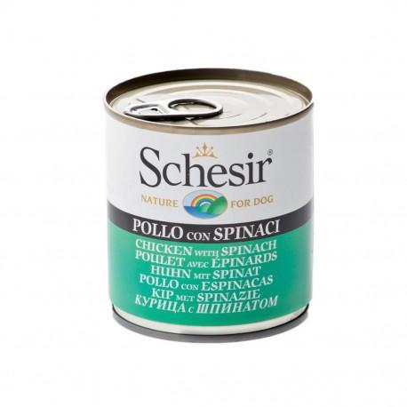 Schesir Dog 285 gr Pollo con Spinaci Alimento Umido per Cane
