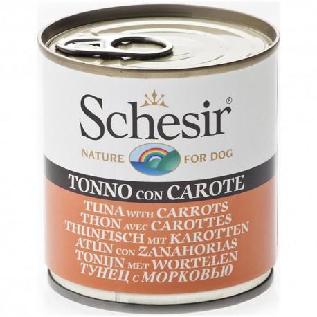 Schesir Dog 285 gr Tonnetto con Carote Alimento Umido per Cane