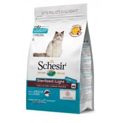 Schesir Cat Dry Sterilized & Light con Pesce 1,5 Kg Crocchette per gatti