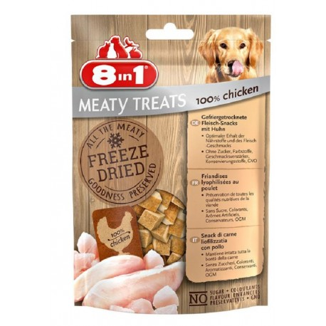 8in1 Meaty Treats Pollo 50 g Snack Liofilizzati per Cane