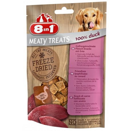 8in1 Meaty Treats Anatra 50 g Snack Liofilizzati per Cane