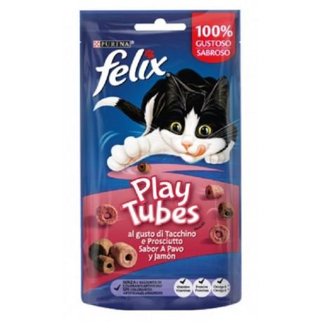 Felix Play Tubes 50 gr Tacchino e Prosciutto Snack per Gatto
