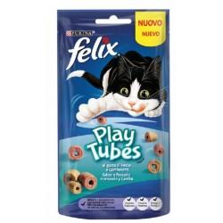 Felix Play Tubes 50 gr Pesce e Gamberetti Snack per Gatto
