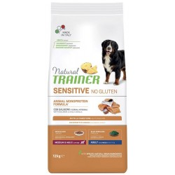 Natural Trainer Sensitive No gluten Medium Maxi Salmone 12,5Kg