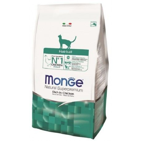 Monge Gatto Natural Superpremium Hairball con Pollo 400g