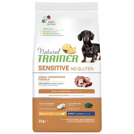 Trainer Natural Sensitive No Gluten ex Fitness 3 Adult Small & Toy Anatra 2 Kg