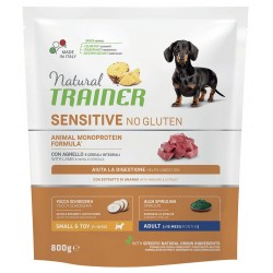 Natural Trainer Sensitive No Gluten Adult Small & Toy con Agnello 800g