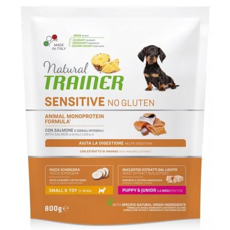 Natural Trainer Sensitive No Gluten Mini Puppy & Junior con Salmone 800g