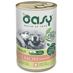 Oasy One Protein Adult Salmone Patè Monoproteico Lattina 400 g per Cane