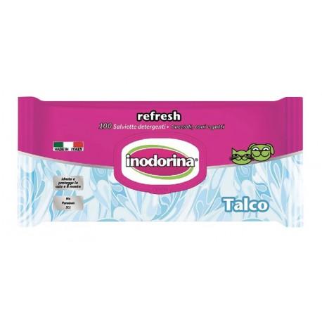 Inodorina Refresh Salviette Igieniche al Talco 100 pz Confezione Risparmio