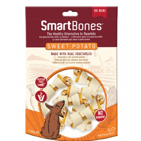 SmartBones Sweet Potato Mini 8 Pz Ossi Vegetali per Cani