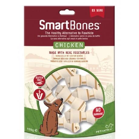 SmartBones Chicken Mini 8 Pz Ossi Vegetali con Pollo per Cani