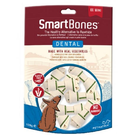 SmartBones Dental Mini 8 Pz Ossi Dentali Vegetali per Cani