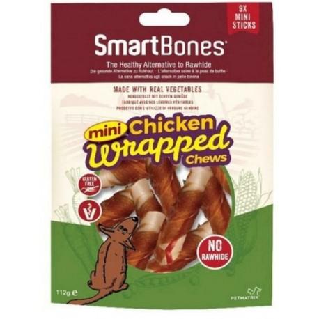SmartBones Chicken Wrapped Mini Sticks 9 Cicche Vegetali con Pollo per Cani