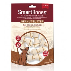 SmartBones Peanut Butter 8 Mini Ossi Vegetali con Arachidi per Cani
