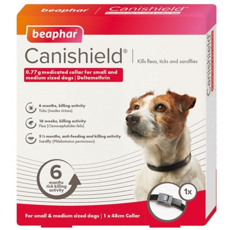 Beaphar Canishield Collare Antiparassitario per Cane Taglia Piccola Media 48 cm