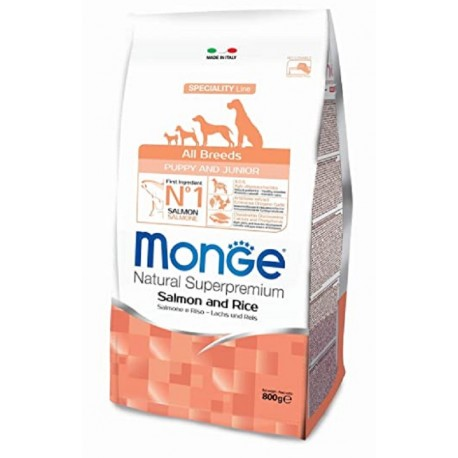 Monge All Breeds Puppy & Junior Salmone e Riso 800 gr