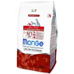 Monge Puppy & Junior Mini Agnello e Riso 800 gr Crocchette Cuccioli