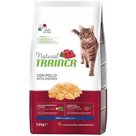 Trainer Natural Adult Cat con pollo Kg 1,5 croccantini gatto