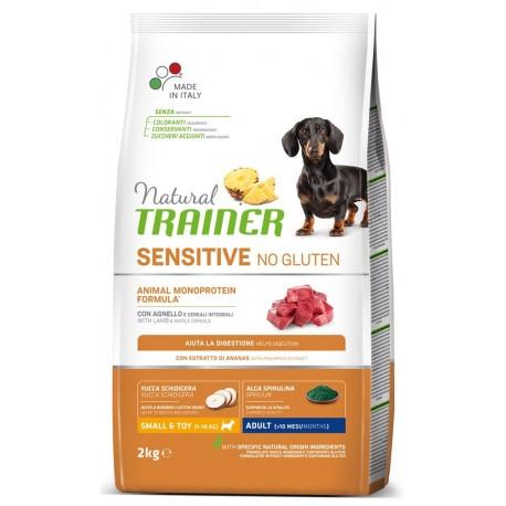 Natural Trainer Sensitive No Gluten ex Fitness 3 Adult Small & Toy con Agnello 2 kg