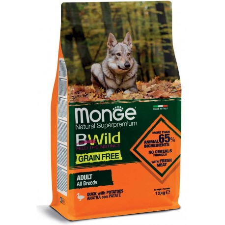 Monge Grain Free All Breeds con Anatra e Patate 12 Kg
