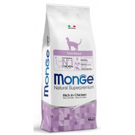Monge Gatto Natural Superpremium Sterilised Pollo 10 Kg