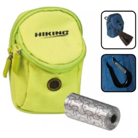 Hiking Smart Bag porta crocchette Verde con porta rotoli per cane