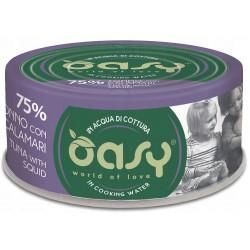 Oasy More Love 75% Tonno con Calamari in acqua di cottura 70 g