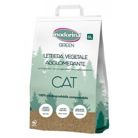 Inodorina Lettiera Vegetale Biodegradabile 6 L per Gatto