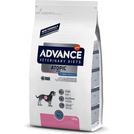 Advance Diets Atopic Mini 1,5 Kg Crocchette con Trota per Cani