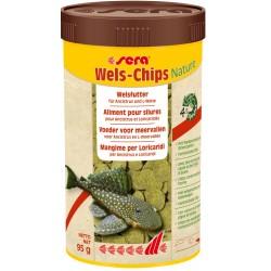 Sera Wels Chips Nature 250 ml 95 gr per Pesci Pulitori Acquario