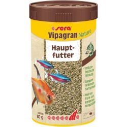 Sera Vipagran Nature 250 ml 80 gr Mangime in Granuli per Pesci Acquario