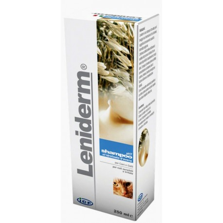 Leniderm 250 ml Shampoo all'Avena per Cute Irritata per Cane e Gatto