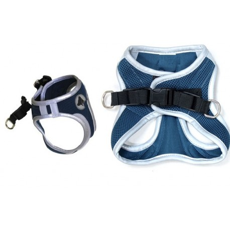 Hiking Pettorina Catarifrangente Medium Colore Blu Navy per Cane