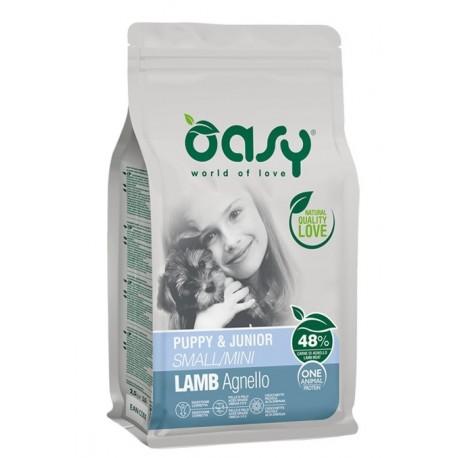 Oasy One Protein Puppy & Junior Small Mini con Agnello 800 gr Cibo per Cuccioli