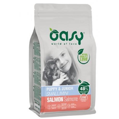 Oasy One Protein Puppy & Junior Small Mini con Salmone 800 gr Cibo per Cuccioli