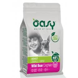 Oasy One Protein Adult Small Mini con Cinghiale 800 gr Cibo per Cani
